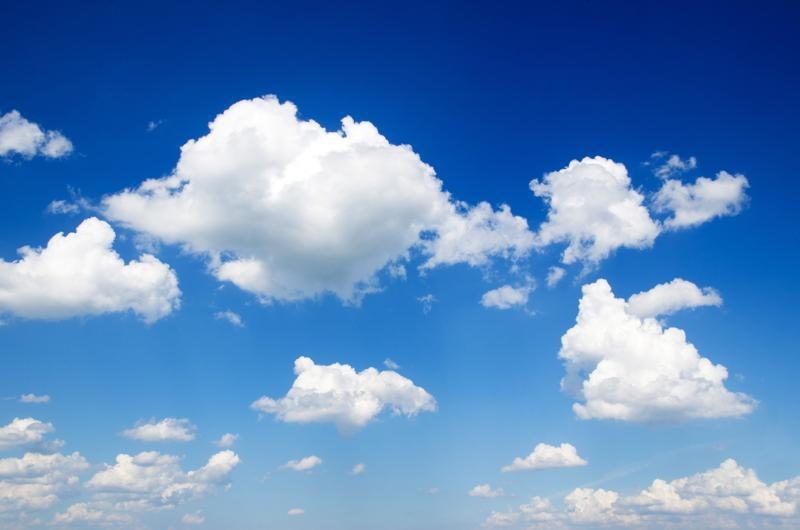 Clouds are groups of tiny water droplets or ice crystals in the sky