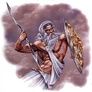 Greeks considered Zeus the king of the gods