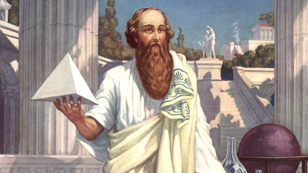 Pythagoras who  was interested in finding the patterns and rules in mathematics and music