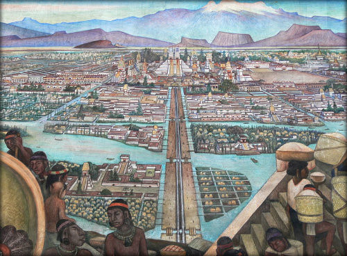 The Aztec empire included many cities and towns