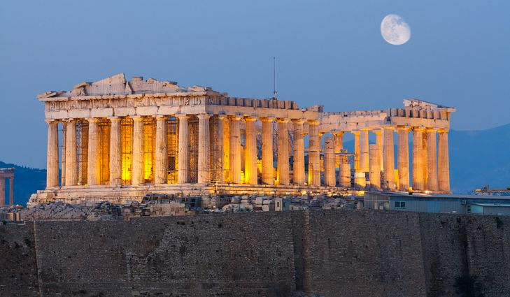 The Parthenon is the largest building on top of the Acropolis