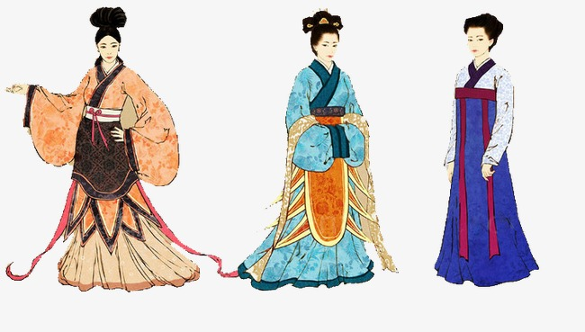 Chinese women's clothing had been changed over times