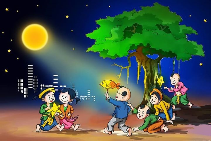 Vietnamese people celebrate Mid-Autumn as a children's festival characterized by the sound of drums and the twinkle of star-shaped lanterns under the clear and vast tropical sky of bright clear moonlight and cool wind. Meanwhile, in China, Mid-Autumn Festival is also called Family Reunion Festival (Tuanyanjie)
