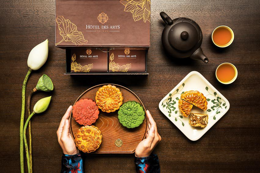Moon cakes are a sweet specialty found throughout Viet Nam in Mid-Autumn