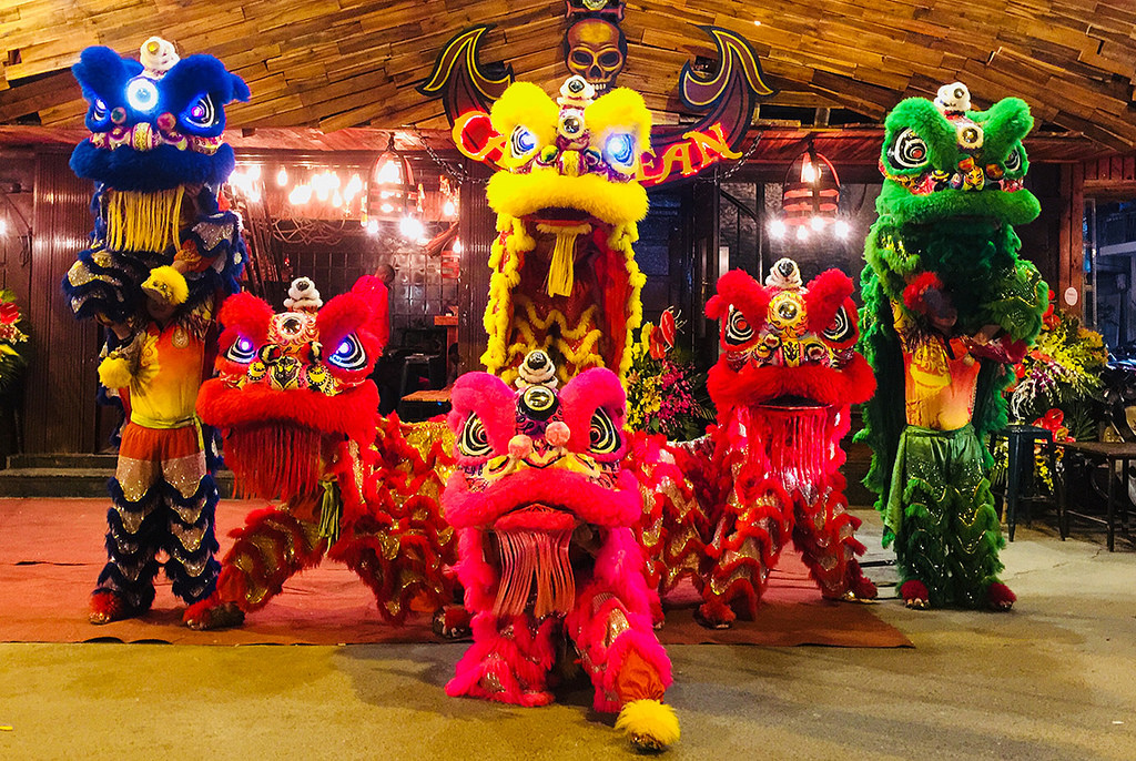 The Lion dance and the white rabbit are specific features of Mid-Autumn
